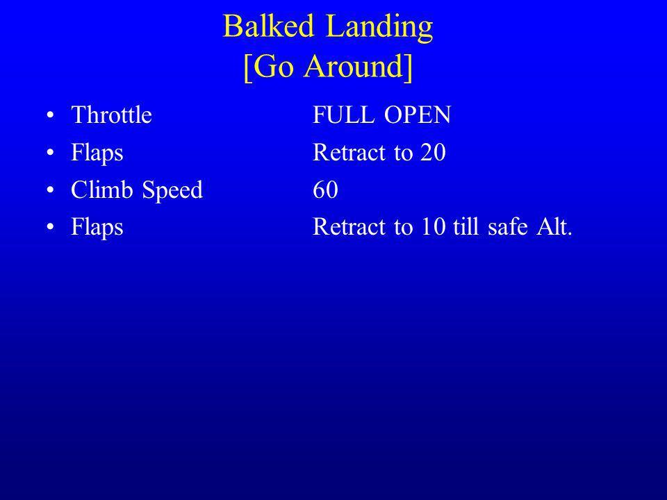 Balked Landing [Go Around]